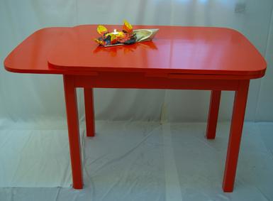 roter tisch | recyclingkunst und der versuch, langsam und, Esstisch ideennn