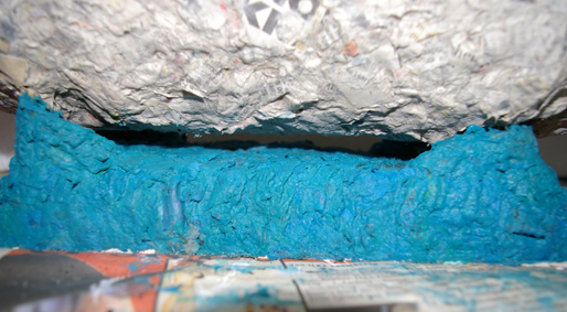 Sockel blau