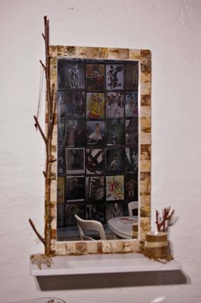 Spiegel mit Birkenrinde