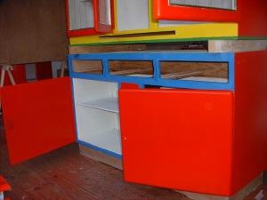 Küchenbuffet Unterteil zweifarbig