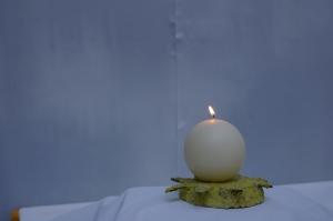 Kerzenhalter Sonne aus Pappmasche