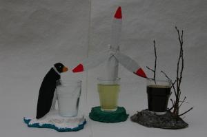 Klimacocktails mit Pappmasche Untersetzern