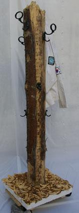 Garderobenständer Treibholz-Pfahl