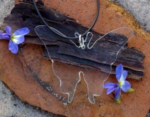 Kettenanhänger Schmetterling aus Acryl