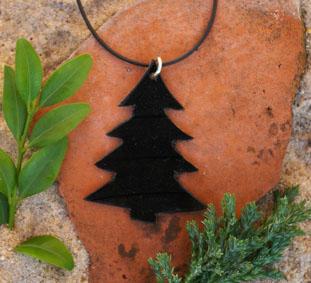 Kettenanhänger Tannenbaum aus Venyl