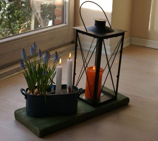 Deko-Ideen: Windlicht, Blumen und Kerzen