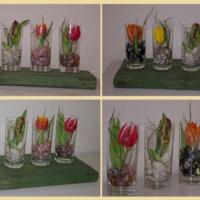 Dekorations-Ideen: Tulpen im Glas