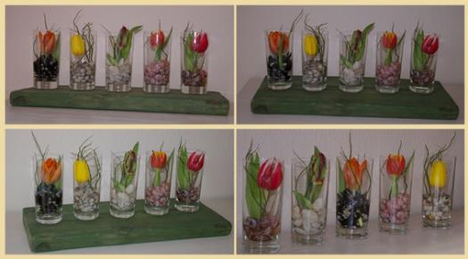 dekorations ideen tulpen im glas recyclingkunst und der versuch langsam und nachhaltig zu leben. Black Bedroom Furniture Sets. Home Design Ideas