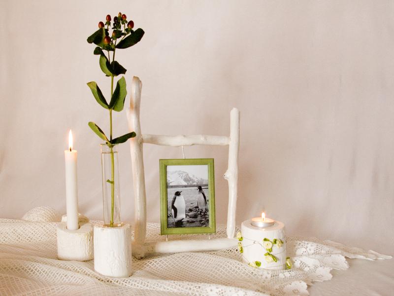 deko ideen komposition in weiss recyclingkunst und der versuch langsam und nachhaltig zu leben. Black Bedroom Furniture Sets. Home Design Ideas