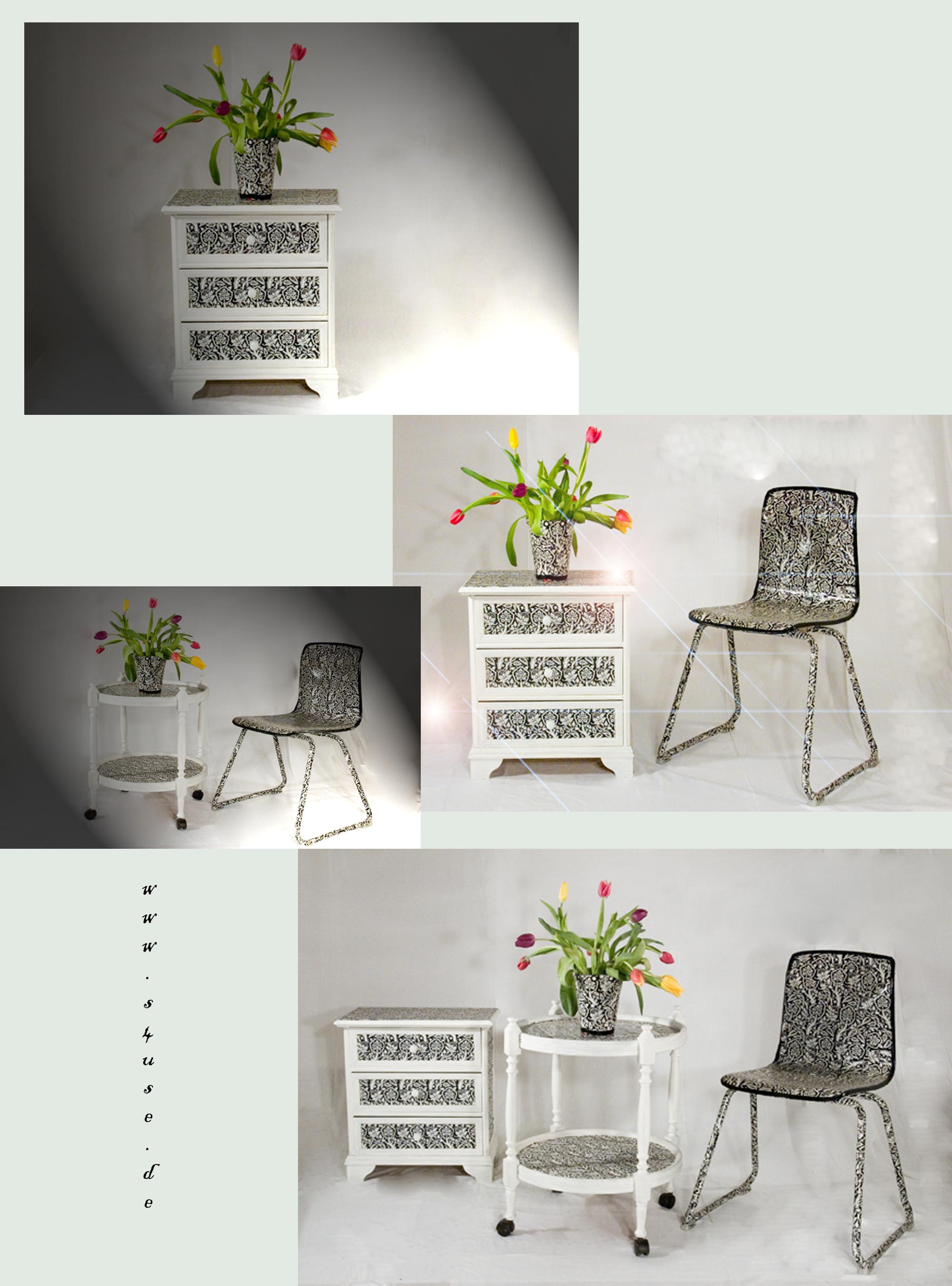 decoupage recyclingkunst und der versuch langsam und nachhaltig zu leben. Black Bedroom Furniture Sets. Home Design Ideas