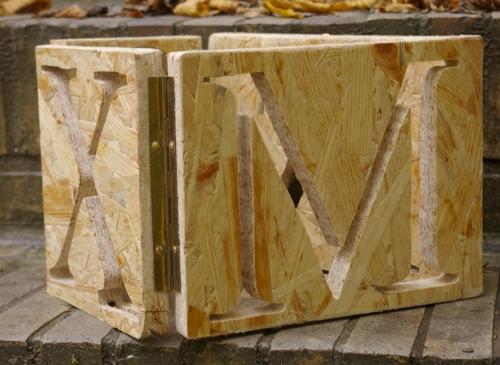 X MAS Buchstaben als Würfel