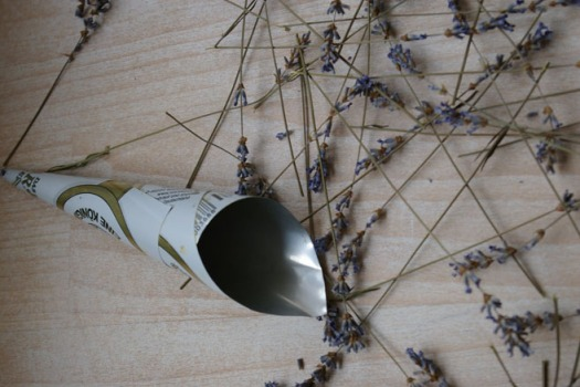 Lavendel auf dem Boden