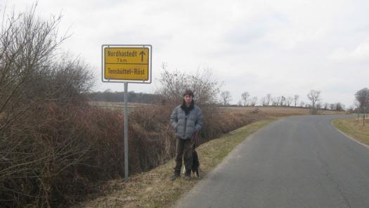 Ortsausgangsschild Tensbüttel-Röst