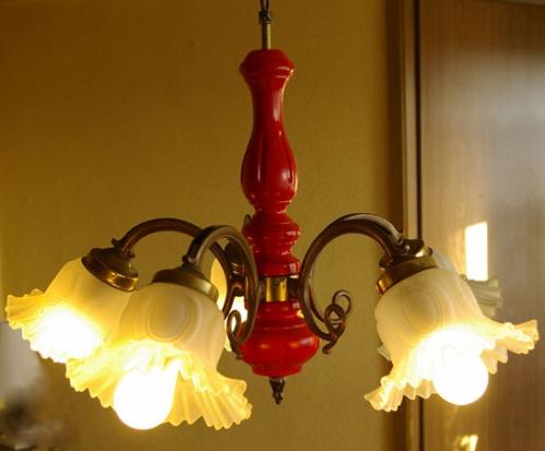rote Lampe, Hängelampe