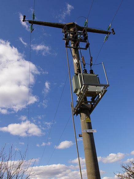 Strommast in Dithmarschen