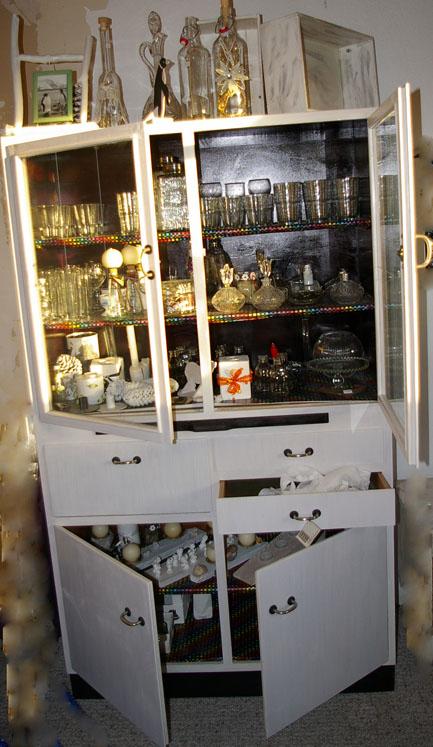 altes Küchenbuffet, weißes Küchenbuffet