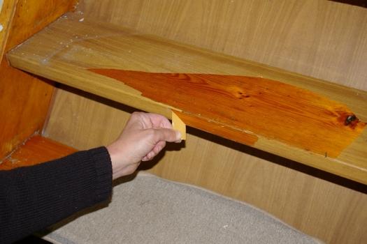alte Treppe renovieren Folie entfernen