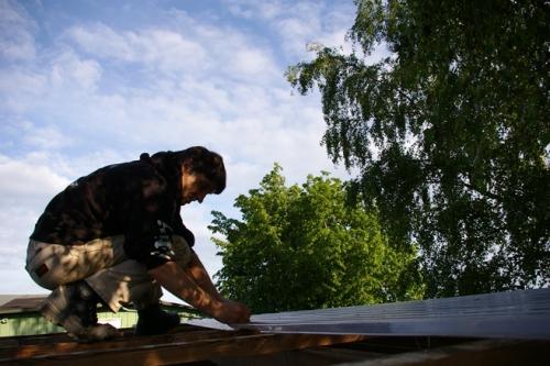 Wintergarten Dach losschrauben