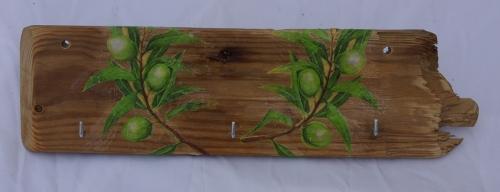 Schlüsselbrett Oliven aus Treibholz Wohnaccessoires Recycling