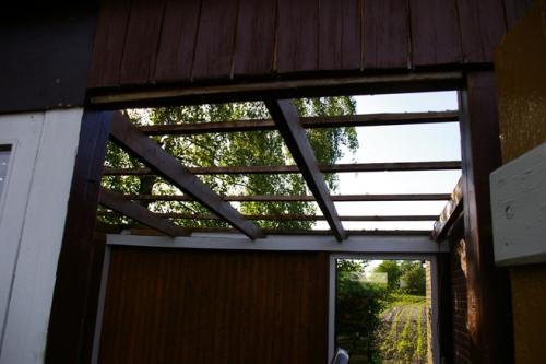 Wintergarten Gartenlaube ohne Dach