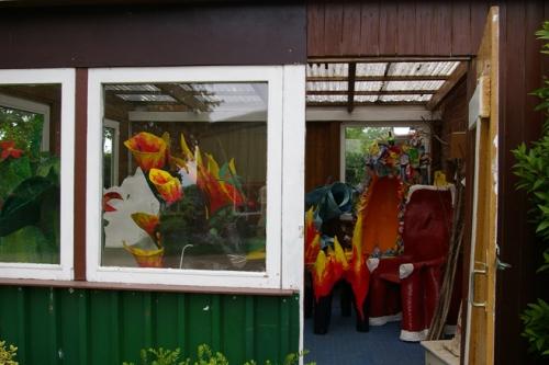 Wintergarten mit Kunstobjekten