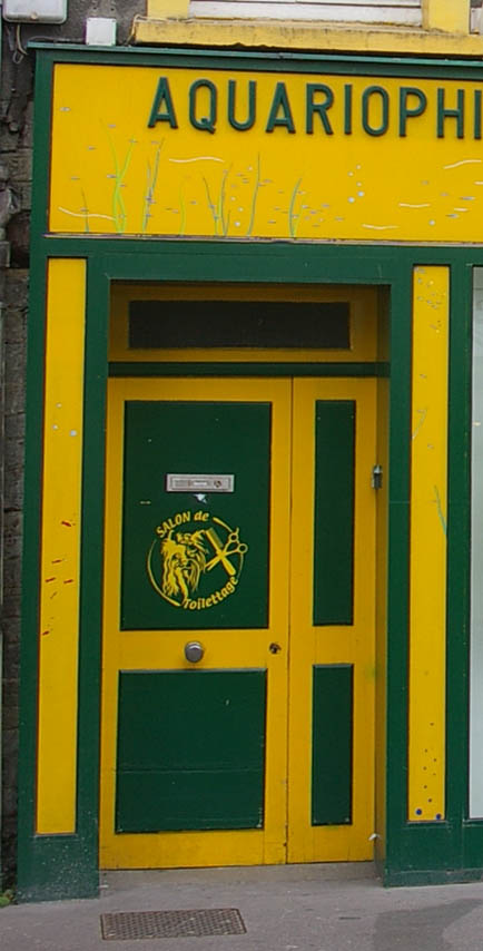 Tuer gelb gruen Cherbourg normandie