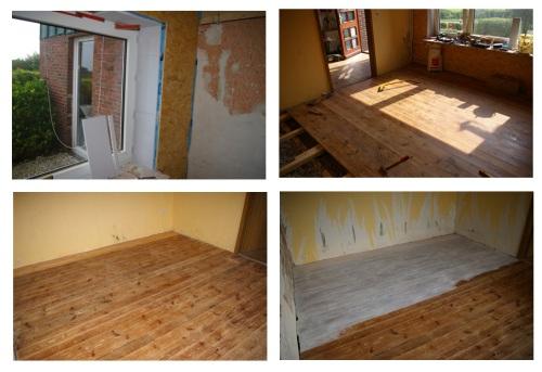 Wand und Fussboden erneuern und wiederverwenden