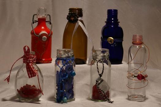 Reuse kleine Flaschen verzieren