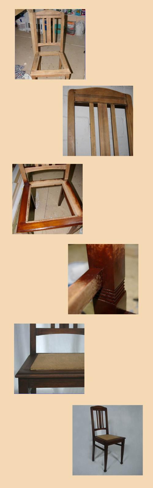 Alter massiver Holzstuhl, wahrscheinlich aus den 30gern