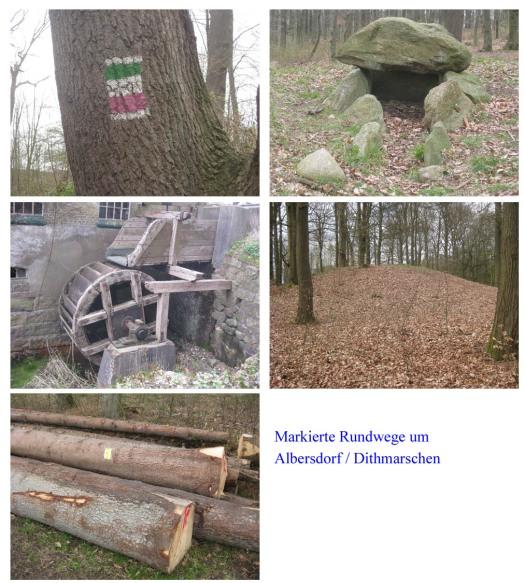 Wanderwege um Albersdorf / Dithmarschen