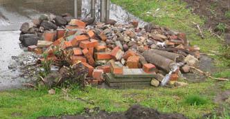 Steinsammlung Steine für Mauer