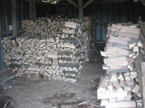 im Schuppen, Holzschuppen, Ofenholz