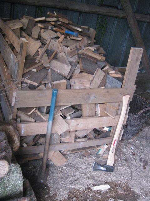 Kleinholz, Holz für den Ofen