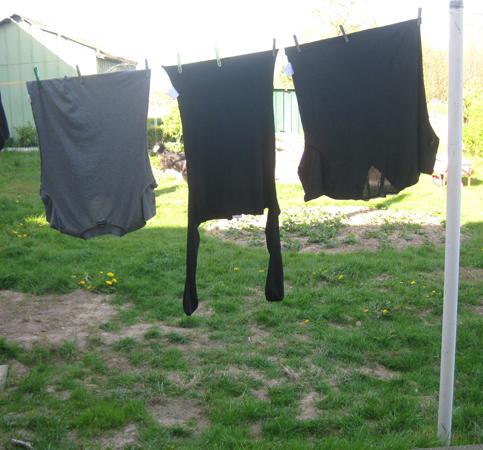 Wäsche, Wäsche auf der Leine, Wäsche im Wind