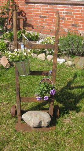 Karre, Sackkarre,GArtendekoration, Pflanzen