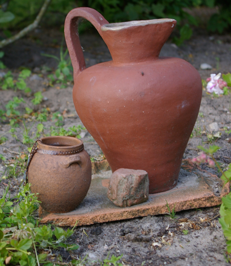 Krug Tonkrug Gartendekoration Gartendeko Garten Tonvase