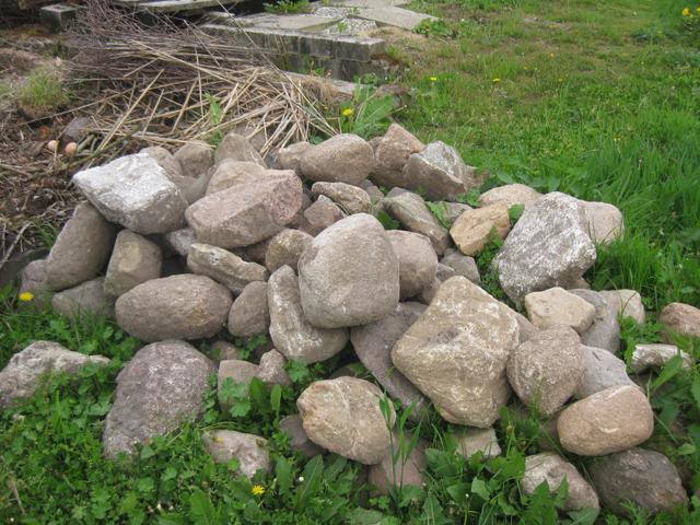 Steine Feldsteine Steinmauer