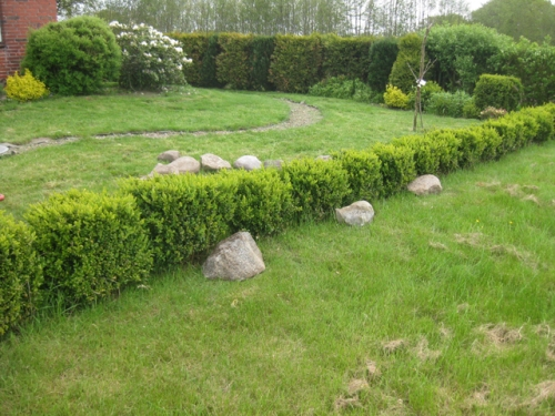 Vorgarten Pumpe Steinmauer Vorgarten Gartendeko