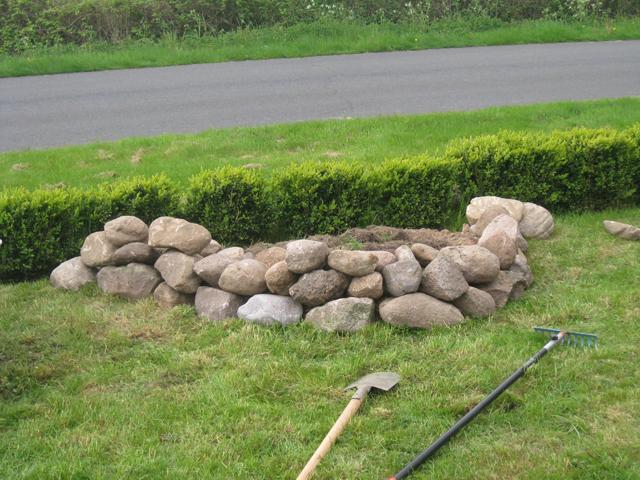 wallbau feldstein steinwall steinmauer gartenmauer, Gartenarbeit ideen