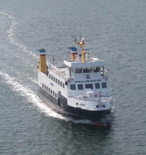 die Laboe im Kieler Hafen