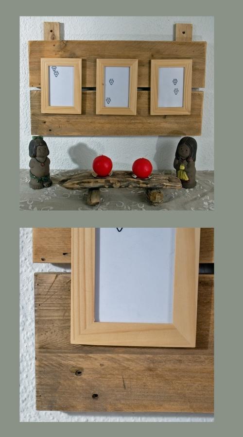 Bilderhalter aus Treibholz