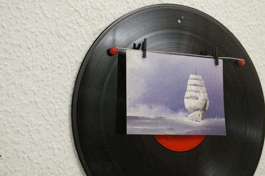 Memoboard Schallplatte