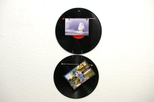 Memoboard Schalllplatte Foto Recycling