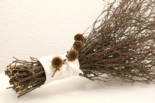 Deko ideen recyclingkunst und der versuch langsam und - Naturliche adventsdekoration ...