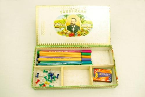 Zigarrenkiste zur Aufbewahrung von Stiften
