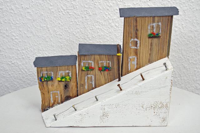 bauanleitung mini landschaft strandh user recyclingkunst. Black Bedroom Furniture Sets. Home Design Ideas