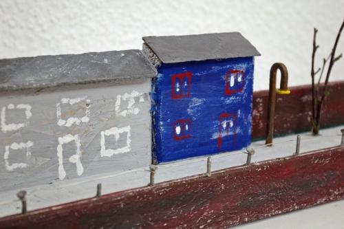 Landleben Holzhäuser aus Holzresten gebaut
