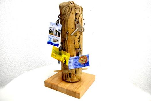 Visitenkartenständer aus Treibholz Dithmarschen
