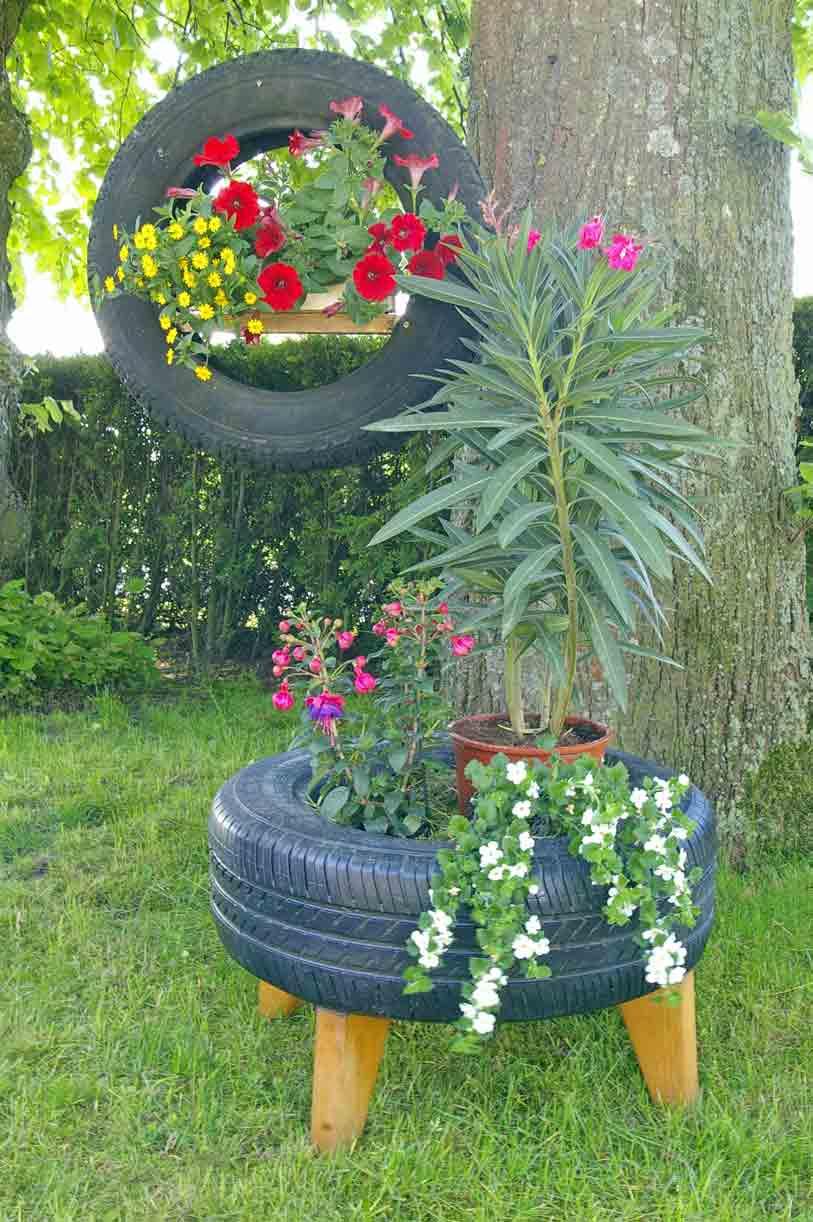 DIY: Wieder Neue Recycling Ideen: Autoreifen Als Deko Für Den Garten