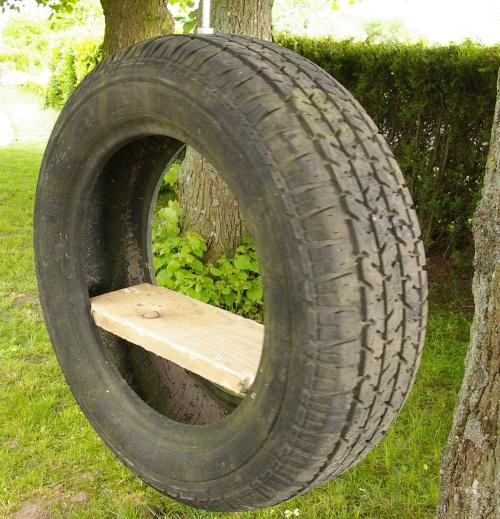 Autoreifen upcycling idee wanddekoration s